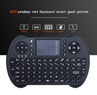 2 4G Mini USB Wireless Keyboard Touchpad Air Mouse Fly Mouse Russian English Remote Control