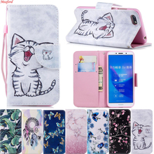 Case For Huawei Honor 7A DUA-L22 Case Wallet Flip PU Leather Cover For Huawei Honor 7A Case 5.45 Russia A7 Honor A 7 stand print худи print bar for honor