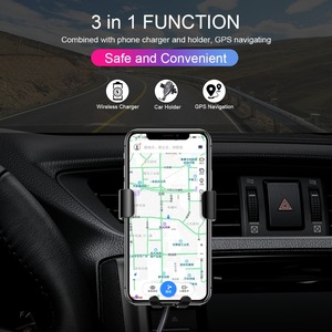 Image 2 - CHOETECH Wireless Charging 10W Qi Wireless Car Charger Phone Holder For iPhone 11 Pro Xs Max Phone Fast Car Mount For Samsung S9