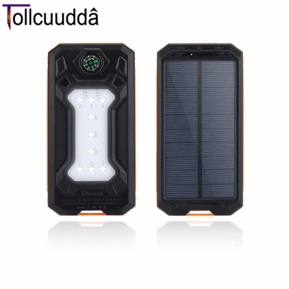 bilder für Tollcuudda lhsj01 10000 mah ultra light weight externe batterieleistungbank tragbaren doppel usb-schnittstelle ladegerät mit kompass