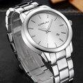 2016 New Fashion CRRJU Watches Men Dress Watch Stainless Steel Golden Men Casual Auto Date Quartz Wristwatches reloj hombre