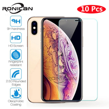 10 Pieces Tempered Glass For iPhone XS MAX XR 4 4s 5 5s SE 5c Screen Protective Film For iPhone 6 6s 7 8 Plus X Glass Protector стоимость