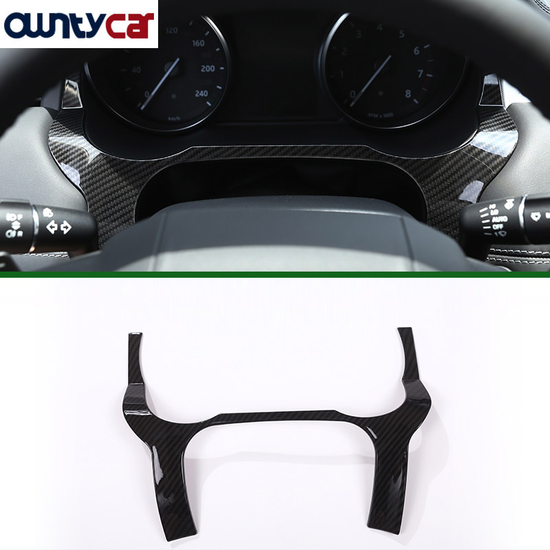 Carbon Fiber Style ABS Plastic For Landrover Range Rover Evoque 12 17 Dashboard Decoration Frame Cover
