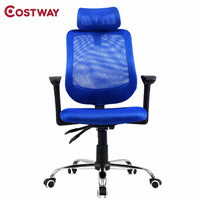 COSTWAY Ergonomic Mesh Computer Chair Adjustable Office Chair Executive Chair Swivel Chair Office Furniture HW51441