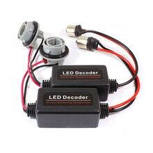 Yushuangyi-decodificador de bombilla LED, 1 par, BA15S P21W 1156, cancelación de Error de advertencia, resistencia de carga libre de errores