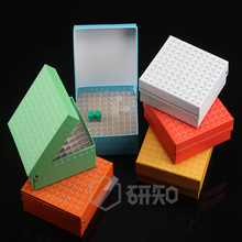 laboratory Paper text tube box for 1.5ml 1.8ml 2ml cryopreservation tubes with connection cover,tube rack,81 holes