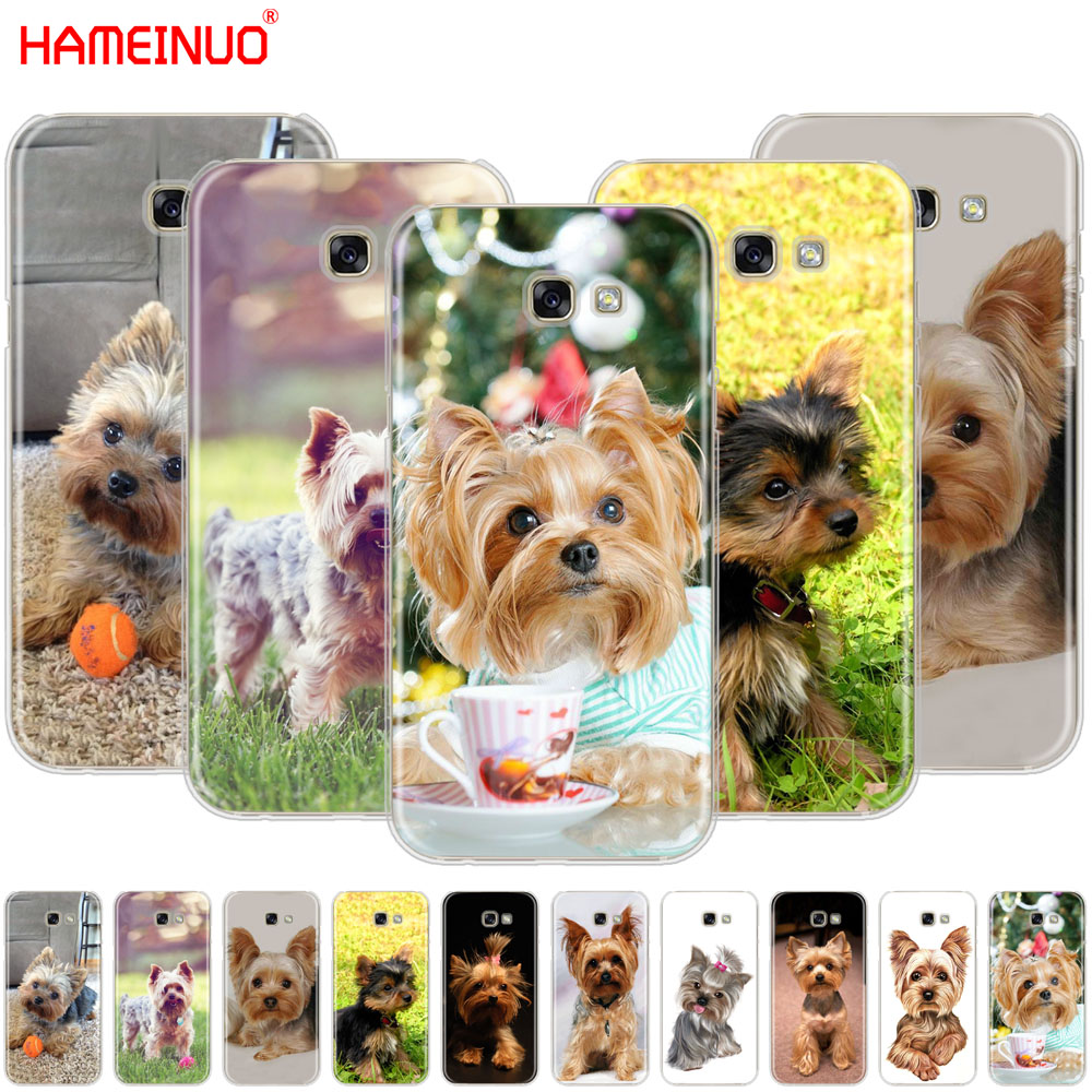 HAMEINUO yorkshire terrier <font><b>dog</b></font> puppy cell <font><b>phone</b></font> <font><b>case</b></font> cover for <font><b>Samsung</b></font> <font><b>Galaxy</b></font> <font><b>A3</b></font> A310 A5 A510 A7 A8 A9 2016 <font><b>2017</b></font> 2018 image
