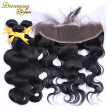 7A Brazilian Lace Frontal Closure With Bundles Body Wave 4 Pcs Full Frontal Lace Closure 13x4