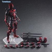 Deadpool Action FigureX Men X MEN Wade Winston Wilson Playarts Kai PVC Figure Toy 260mm Anime Movie Deadpool Model Doll PA07