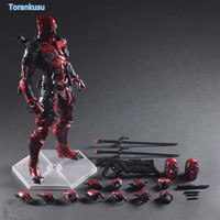 Deadpool Action FigureX Men X MEN Wade Winston Wilson Playarts Kai PVC Figure Toy 260mm Anime Movie Deadpool Model Doll PA07