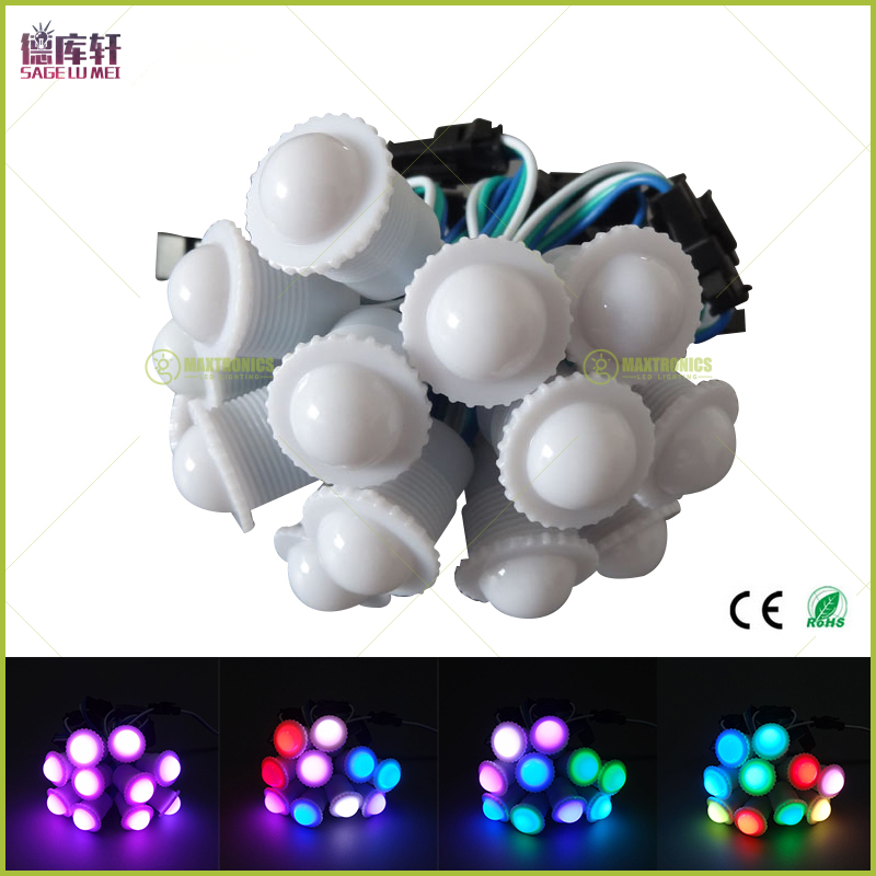 Led Modules Considerate Dc5v Ws2811 Ic 16mm Diameter Transparent /milky Cover 5050 Rgb 1 Led Waterproof Ip68 Pixels String Digital Color Module Light To Win A High Admiration