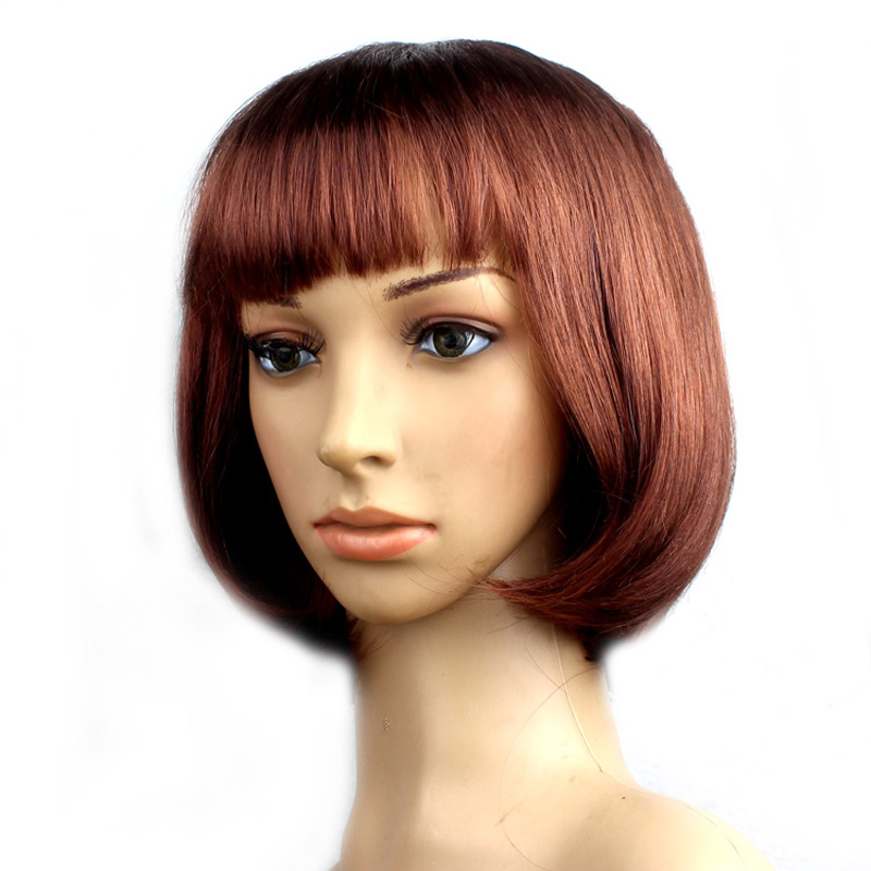 Popular Women Short Bob Cut Fancy Dress Wigs Cosplay Costume Party Club Full Wig