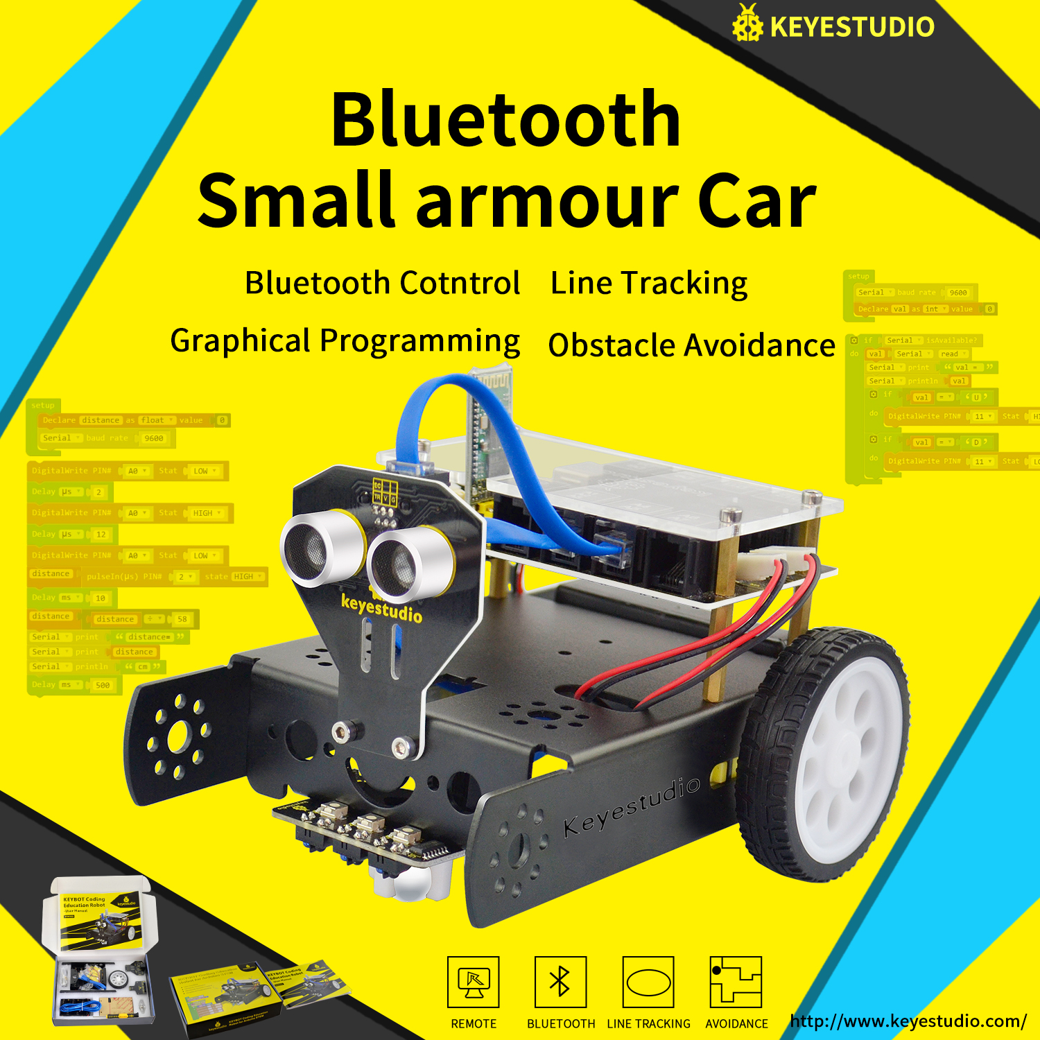 Keyestudio KEYBOT Programmable Education Robot Car Kit +