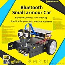 Keyestudio KEYBOT Programmierbare Bildung Roboter Auto Kit + Benutzer Manuelle Für Arduino Grafische Programmierung
