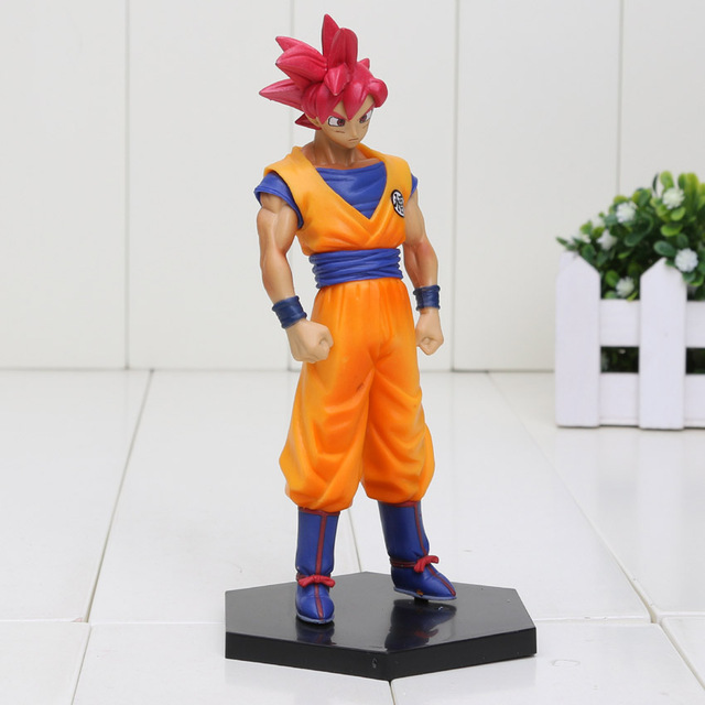 15cm Dragon Ball Z Battle of the Gods Red Hair Son Goku PVC Action Figures Toy