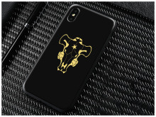 Black bull Logo Black Clover Anime iPhone Case Cover X XR XS MAX
