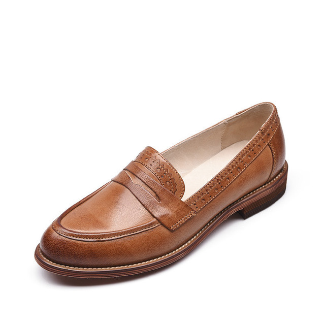 Brown Flat Shoes Size
