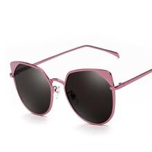 Fashion Cat Eye Sunglasses Women Brand Designer Vintage Luxury Classic Retro Rose Gold Mirror SunGlasses For Female Oculos UV400