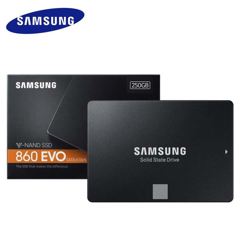 Samsung 500 GB SSD Flash Bellek HDD Disk 1 TB 2 TB 4 TB Promosyon Dropshipping Katı Hal Sürücü 860 EVO V-NAND 2.5