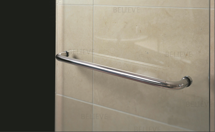 Polished Shower Door Handle 304 Grade Stainless Steel Pull Handles Available For Bathroom Glass Doors PA 197 19*629mm-in Door Handles from Home Improvement ... & Polished Shower Door Handle 304 Grade Stainless Steel Pull Handles ...