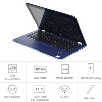 VOYO A3PRO Laptop Tablet PC Win10 Core i7-6500U Notebook 13.3 inch IPS 1080 P Touchscreen 8 GB DDR4 256 GB SSD WiFi Bluetooth 4.0