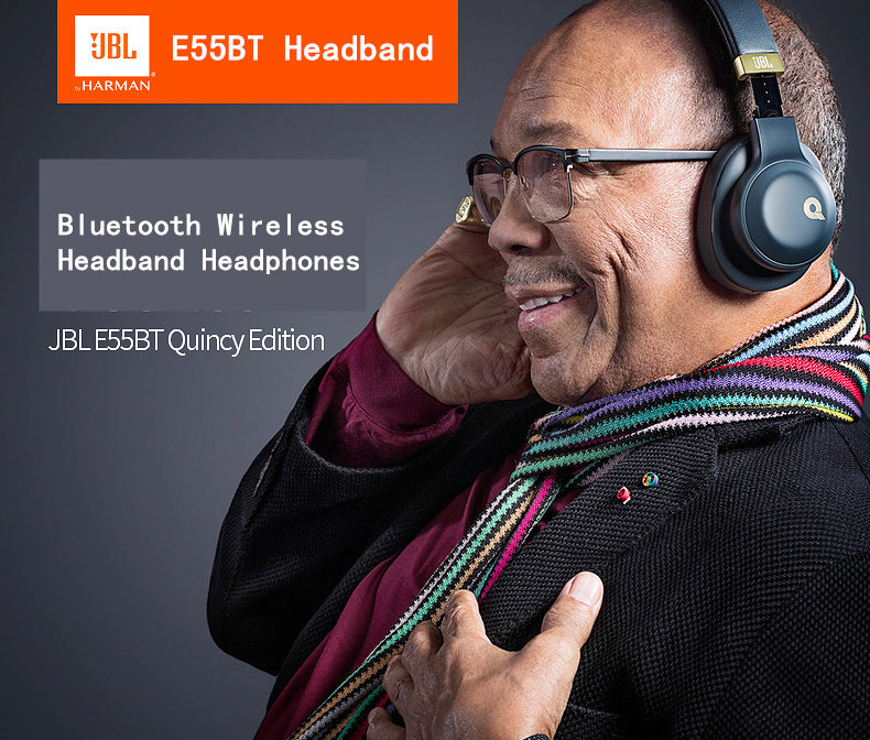 c5a994f418d JBL E55BT Quincy Edition Detachable Detachable Remote Microphone Bluetooth  Headphones Wireless Headset Over Ear Microphone