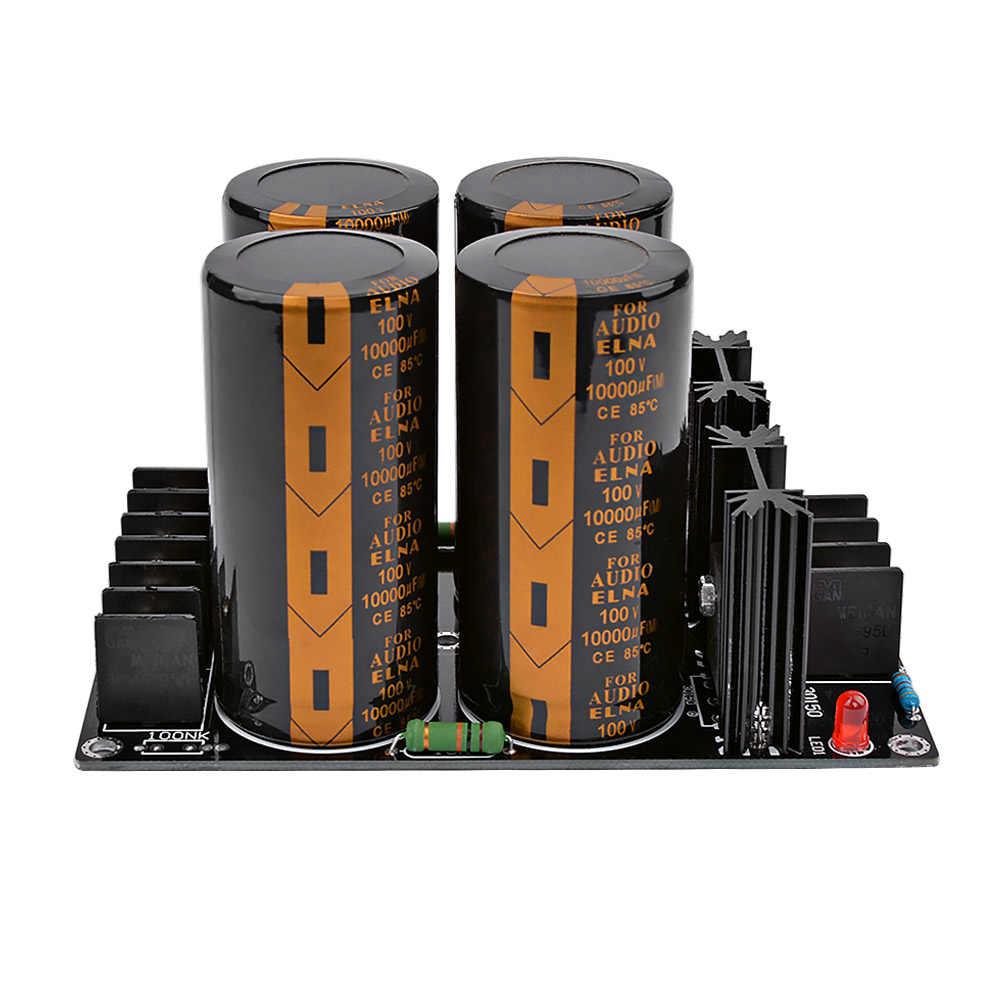 Wzmacniacze audio AIYIMA prostownik Protect Board 100V 10000UF wysokiej mocy filtr prostownika płyta zasilająca do kina domowego