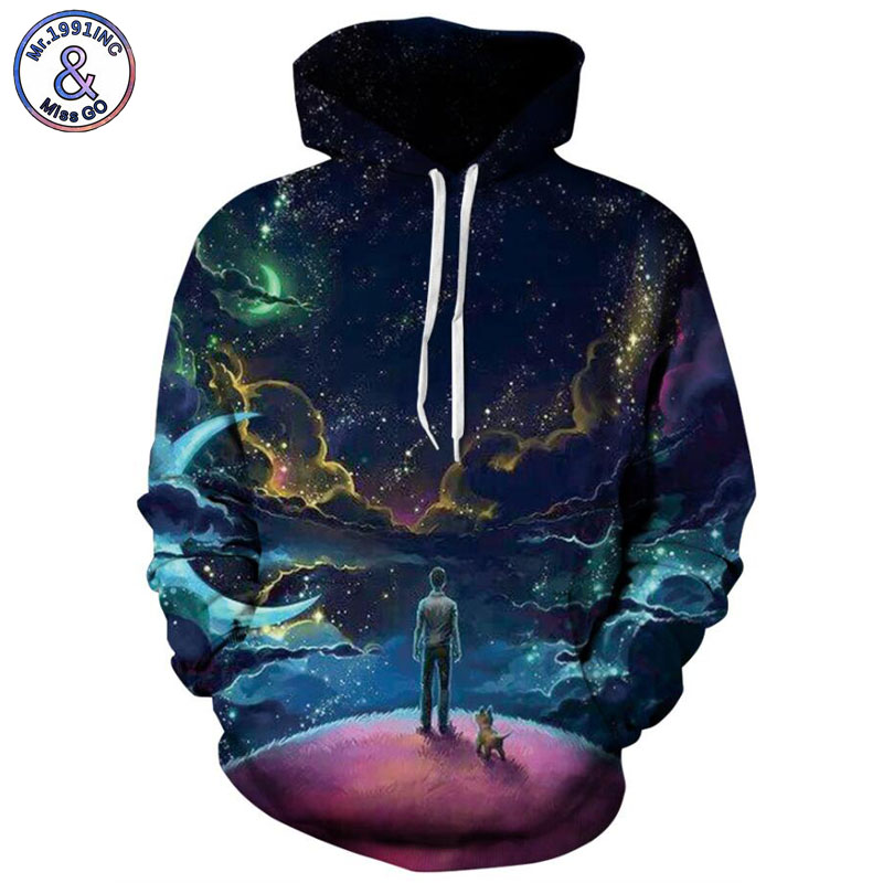 Mr.1991INC Europe and America Hot Person and Dog 3d Sweatshirts Men hoodie sweatshirt Casual Hooded Pullovers Men Hoodies M092