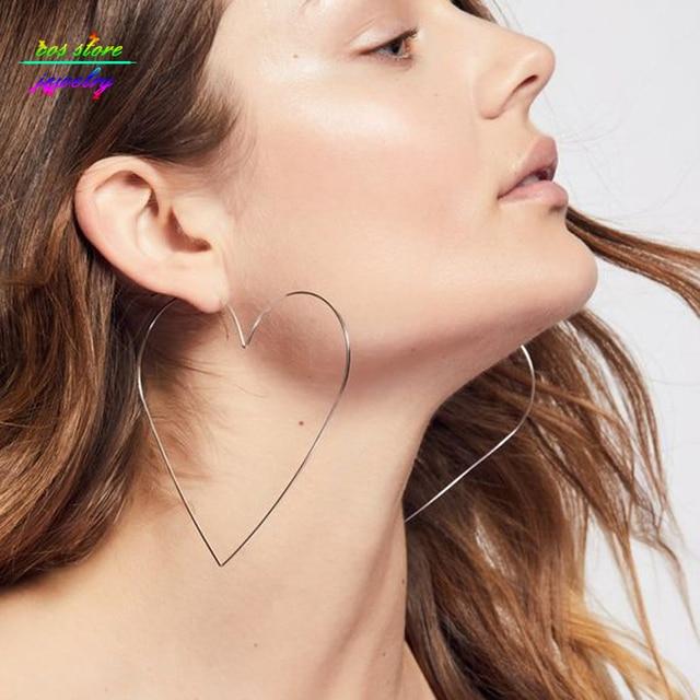 Aliexpress.com : Buy Oversized Sexy Silver/Gold Heart Hoop ...