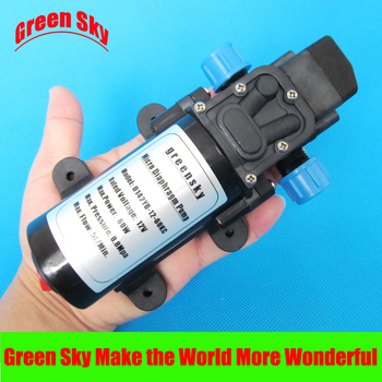 5l/min 60W 12VDC automatic pressure switch type with on/off button and dc jack self-priming diaphragm high pressure water pump automatic pressure switch type 80w 5 5l min high pressure dc 12v water pump self priming sprayer pump agriculture