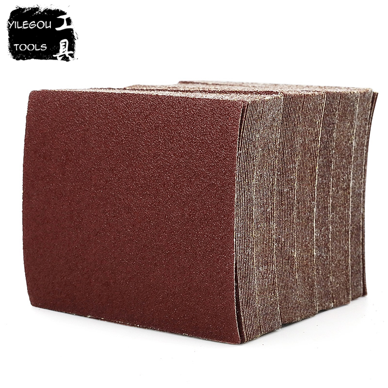 20 Pieces Abrasive Paper 110*100mm Sanding Paper 110mm * 100mm Flocking Sand Paper For Woodworking (Grit 60 80 100 320 To 1000)