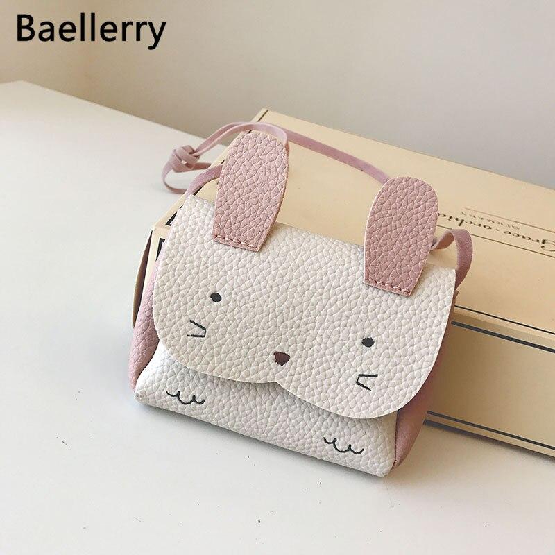 PU Leather Kids Rabbit Mini Messenger Bag Baby Girls Handbag Coin Purse Children Crossbody Bag For Girls Ladies Shoulder Bags