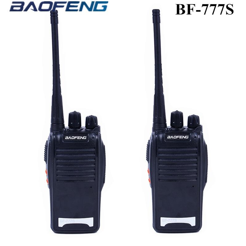 2 pcs baofeng bf-777s talkie walkie portable radio bidirectionnelle de poche uhf400.00-470.00 mhz haute qualité cb radios talkie-walkie