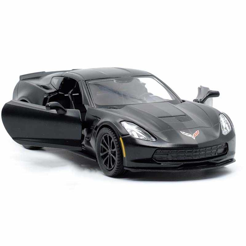 1:36 Chevrolet Corvette C7 Metal Diecast Cars Toy Pull Back Alloy Car Model Vehicle Miniature Children Toys