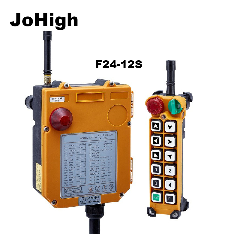JoHigh Supply F24 12S High Performance 12 Single Speed Button Keys Wireless Industrial Remote Controller
