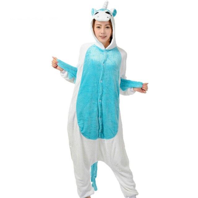 Pijama Onesie Stitch Unicorn Panda Bear Cow Winter Pajamas for Women Men  Warm Onesies Adult Woman Sleepwear Animal Pyjamas 7aee88611