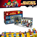 SY305 Super Heroes Мстители Железный Человек Марк Военная Машина Подземных Базовая Станция Строительный Блок