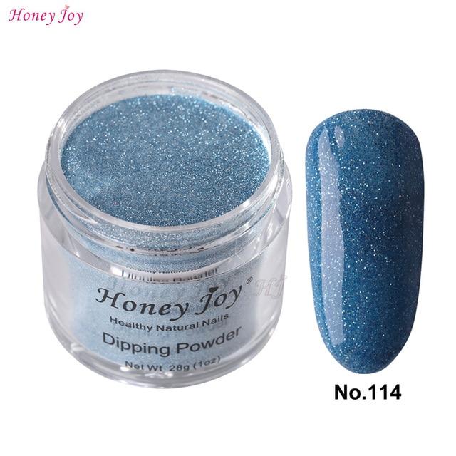 28g/Box #114 Blue Glitter Dip Powder Nails Dipping Nails ...