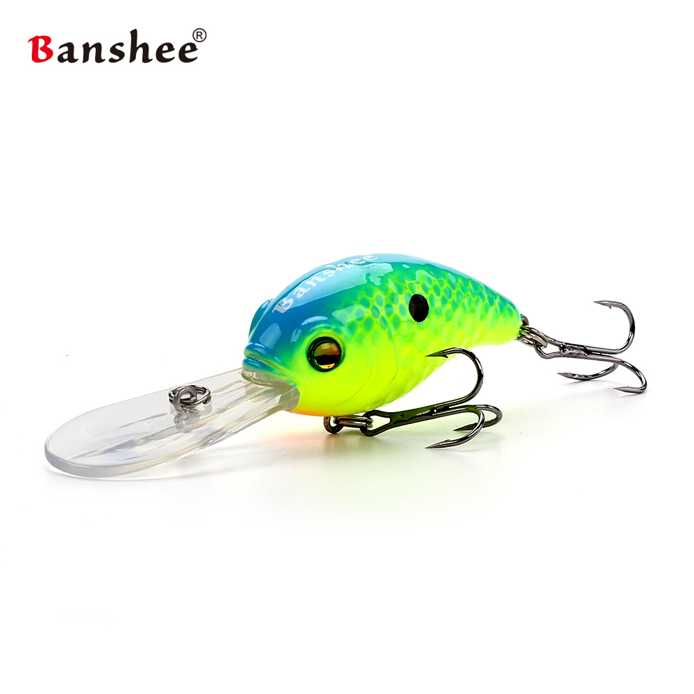 Banshee 50mm 10g  Floating Bass Fishing Lure VC04 Rattle Sound Wobbler Round Bill Artificial Hard Bait Deep Diving Crankbaits wldslure 1pc 54g minnow sea fishing crankbait bass hard bait tuna lures wobbler trolling lure treble hook