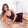 Hot Sexy Lingerie Satin Lace Kimono Intimate Sexy Sleepwear Robe Night Gown for women erotic lingerie sexy H248
