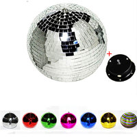 Mirror Disco Ball Dia.10cm 15cm 20cm 25cm 30 100cm Groovy Glass Mirror Disco Ball with Motor and Metal Hanging Ring