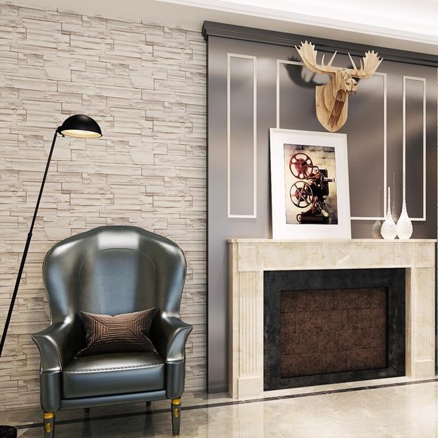 Wundervoll Geprägte 3D Ziegel Tapete Abnehmbare Stein Muster Wasserdichte PVC  Wandverkleidung Für Wohnzimmer Wohnkultur QZ0544