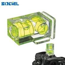 Adaptador de zapata para cámara Dslr Slr 2 ejes con burbuja y nivel de burbuja, accesorios de fotografía para cámara Canon, Nikon, Olympus, SLR