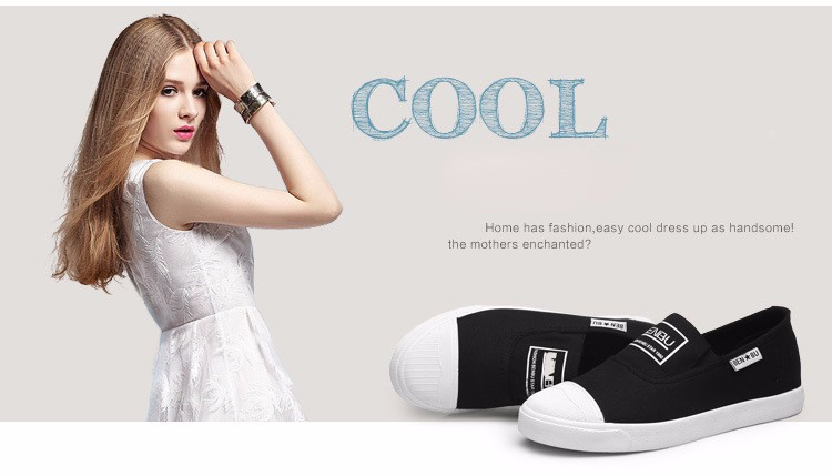 KUYUPP Brand New Woman White Shoes 2016 Summer Casual Flat Slip On Canvas Shoes Round Toe Women\'s Flats Big Size 35-40 PX107 (7)