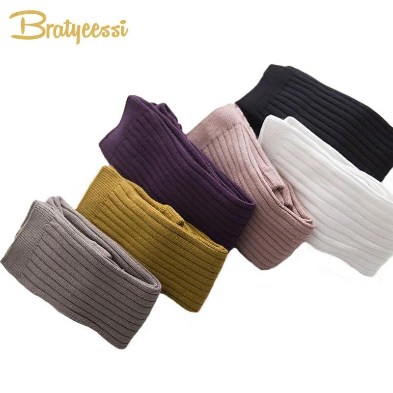 Baumwolle Gestrickte Kinder Leggings für Mädchen Multicolor Elastische Baby Jungen Hosen & Capris für 0-5 Jahre 1 stück