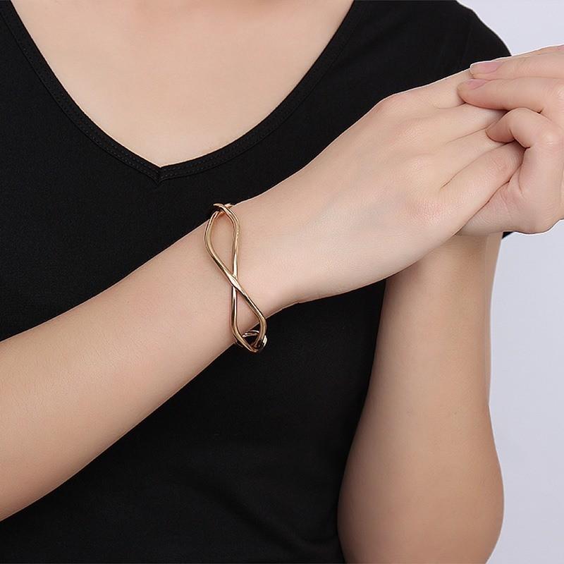 Open Criss-Cross Infinity Bracelet