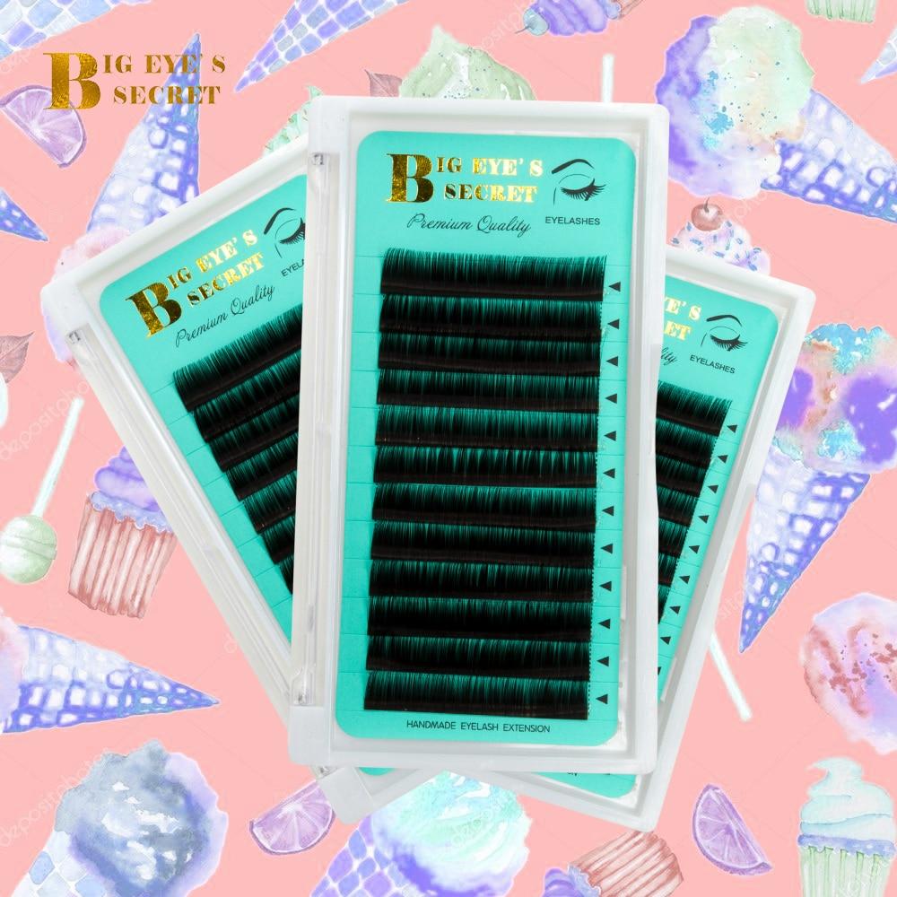 BES 1 Tray Silk Individual Lash False Eyelash Extension Supplies Handmade Natural Long Mink Single Lashes Easy Fans