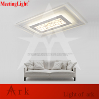 Meetinglight Modern The Water Cube Acrylic Remote Control Dimming Led Ceiling Light Living Room Bed Study