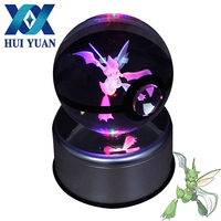 12 constellats 8CM Diameter Crystal Ball 3D Lamp Novelty Night Light USB Desk Decor Creative Children Birthday Christmas Gift