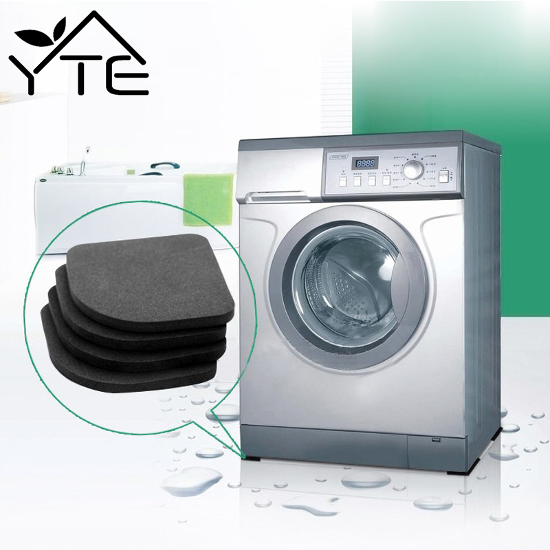 4pcs washing machine anti vibration pad shock proof non slip foot feet tailorable mat refrigerator floor